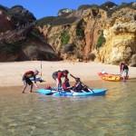 lagos kayak beach snorkel sea